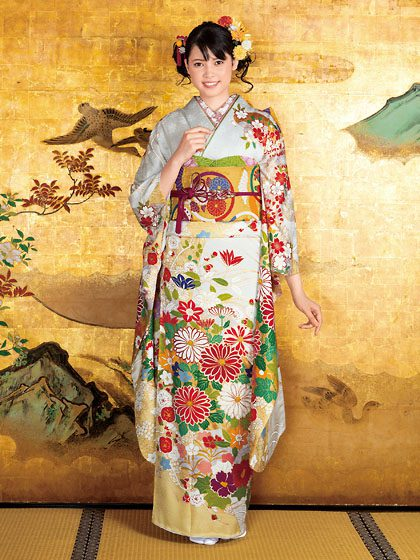 まるで美しい日本画を着る